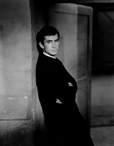 Anthony Perkins as Norman Bates, in Hitchcock's Psycho (1960)