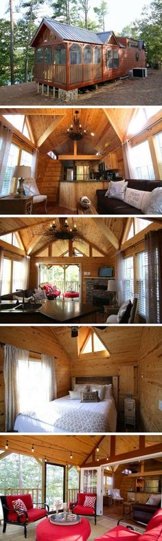 """I think ive found """"the one...""""The Chattahoochee: a 473 sq ft park model cabin"""
