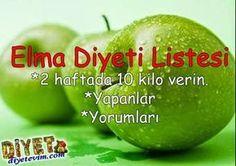 elma diyeti yapanlar diyet listesi