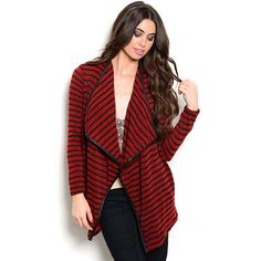 Shop the Trends Women's Long Sleeve Cardigan Sweater with Open Front Design and Allover Print