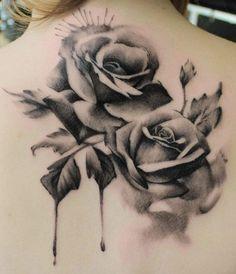 tattoo rose black and white - Szukaj w Google