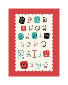 Alphabet Friends by ERAY for Minted
