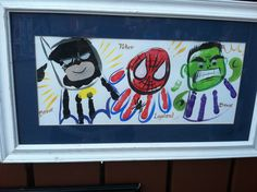 Superhero hand prints-