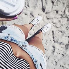 Stan Smith's on the beach? Why not #StanSmith #adidasXcovetme #covetme