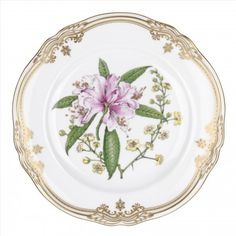 Spode Stafford Flowers Accent Plate Rhododendron/Prinsepia