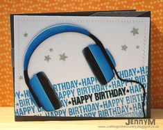 Make The Day Special Stamp Store Blog: Adding ink to Die-cuts - MFT Headphones