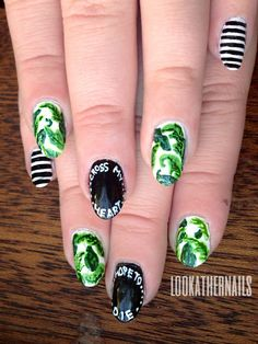 "Wildfox ""Cross My Heart Hope To Die"" Sunglasses and summer palm leaf print inspired nail art."