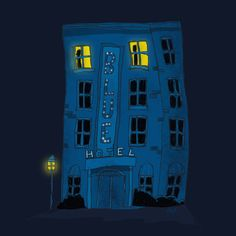 Blue Hotel  by Dale Keys