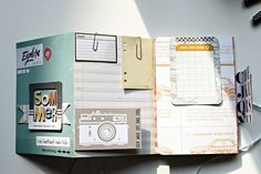 gepimptes Travel Leporello mit dem #dpAugustkit14 + #dpMinikit + #dpProjectLifeKit #AddOn von Daniela Peuß für www.danipeuss.de |Crate Paper Open Road, Teresa Colins Urban Market, Project Life Travel Cards, Washi Tape Masking Tape