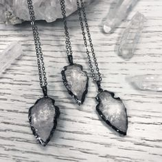 Arrow Clear Quartz Necklace - We are the Hellaholics