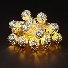 Buy John Lewis Small LED Moroccan Ball Line Lights, x 20, Silver Online at johnlewis.com £15
