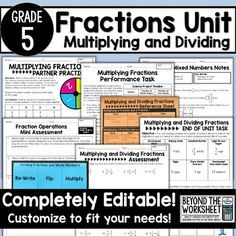 Multiplying and Dividing Fractions 5th Grade Math…