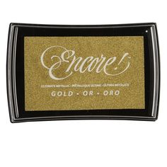 Michael's gold ink stamp encore!™ metallic ink $8.99 Item# 10416110