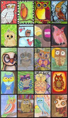 owls  Nice student art work