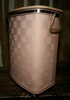 Vintage 1950's 50s Pearl Wick Pink Wicker And by UrsMineNours