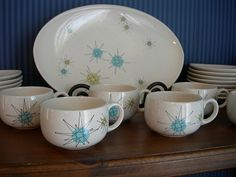 franciscan starburst my dinnerware pattern & Vintage 1950s Franciscan starburst dinner wear dish set (for sale ...