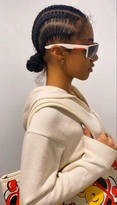 my spotify playlist is in the link :) Feed In Braids Hairstyles, Braids Hairstyles Pictures, Black Girl Braided Hairstyles, Black Girl Braids, Baddie Hairstyles, Hair Pictures, Protective Hairstyles, Natural Braided Hairstyles, Black Women Hairstyles