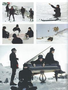 The Beatles in Help! collage