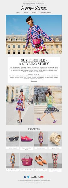 & Other Stories Newsletter | Susie Bubble-a styling story
