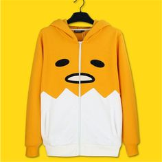 Just in to our Clothes collection! Kawaiiiii :3 Gudetama Hoodie Jacket -size S,M,L,XL,XXL