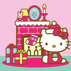 Fireplace Christmas Hello Kitty