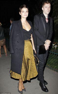 British model Pixie Geldof shows off her style credentials