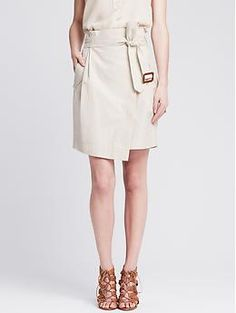 Heritage Ruffled Tie-Front Skirt | Banana Republic