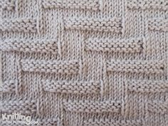 """Here is a picture of what is called """"Escalator Pattern""""  It's a charming broken welt pattern that is very easy to knit, yet creates an attention-getting effect."""