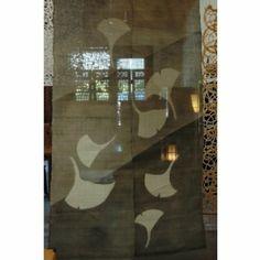 Japanese Noren, linen, door way curtain ginko leave Noren Curtains, Aomori, Window Treatments, Home Kitchens, Oriental, Ornament, Japanese, Classic, Fabric