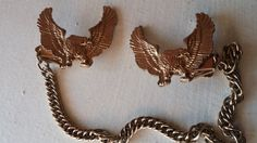 Double Eagle Vintage Collar Clasp Clip Gold by VintageInspiredNow