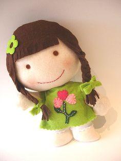 felt doll so adorable