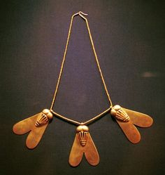 Necklace from the tomb of Queen Ahhotep I (c.1550 BC).