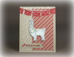 Just a little fun with a  Christmas llama...