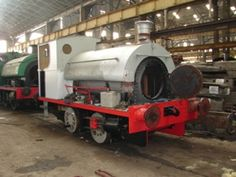 """Chatham Historic Dockyard Railway,UK.P1903/1936, 0-4-0ST.Built by Peckett & Sons Ltd.at Atlas Works,Bristol,for South Wales Public Wharf & Transit Co,Penarth.Believed originally called """"Merlin"""",& later """"Little Lady"""",currently carries no name.Moved to Chasewater Railway around 2002,& Chatham 2007 for restoration to working order.Oct 2010 after years of attempted restoration in various locations,made 1st movements under own power for 46 years."""