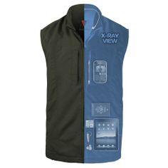 Fleece 7 0 jacket from scottevest sev men 39 s black fleece for Travel shirts with zipper pockets