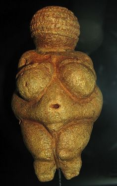 The Venus of Willendorf 24,000 BCE - 22,000 BCE. She is thought to represent fertility. I believe she also represents the beauty of women...
