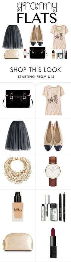 """""""Granny Flats"""" by sylvieraith on Polyvore featuring Old Navy, Chicwish, Chanel, Kate Spade, Daniel Wellington, Bobbi Brown Cosmetics, MICHAEL Michael Kors, NARS Cosmetics, women's clothing and women's fashion"""