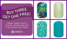 Buy 3 Get 1 FREE Jamberry Nail wraps  Www.Jennismith.Jamberrynails.Net  www.facebook.com/JenniSmithJams