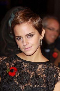 Emma Watson's pixie cut.