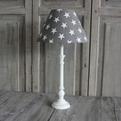 mansion interiors antique white base and grey star shade, Star Lamp, Mansion Interior, Table Lamp Sets, New Room, Lampshades, Wedding Day, Lounge, Mansions, Stars