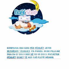 KOMPANIA RISI KIDS PëR FëMIJëT JETIM MUNDËSON  VESHJEN PA PAGES, DUKE FILLUAR NGA 24 07 2015 DER Më 03 08 2015. PATJETER FëmijËt duhet tË ken NJË FLETË DËSHMI. https://www.facebook.com/RisiKidscom www.risikids.com