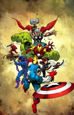 Avengers color commission by SpicerColor on DeviantArt