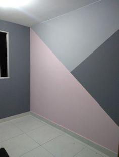 Girl Bedroom Walls, Accent Wall Bedroom, Room Ideas Bedroom, Small Room Bedroom, Bedroom Paint Design, Bedroom Wall Designs, Home Room Design, Room Wall Painting, Cute Bedroom Decor