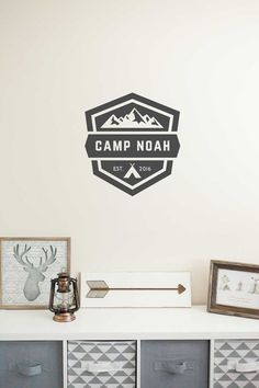 Nursery Wall Decal woodland camping wall by BabyBearOutfitters