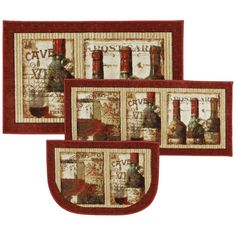 Found it at Wayfair - New Wave French Cellar Area Rug Set