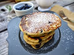 Eighty Twenty: 80(ish)--- Greek Yogurt, Blueberry, and Chia Seed Protein Pancake Recipe