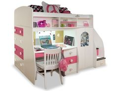 Double Loft Bed With Desk - Foter
