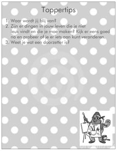 Achterkant van Topper Talent Coaching, Yoga, Words, School, Tips, First Grade, Training, Horse, Counseling