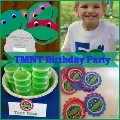 TMNT Birthday Party - This boy's party theme is perfect for Teenage Mutant Ninja Turtle fans. From invitations to snacks, see fun ways to make this green party theme come to life.