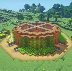 """Best of Minecraft Builds on Instagram: """"Really cool plant house by @setterbuilds ! 🌳😱 —————————— 👉 FOLLOW @bestofminecraftbuilds 👉 FOLLOW @bestofminecraftbuilds 👉 FOLLOW…"""""""
